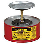 Justrite 1 Quart Plunger Can